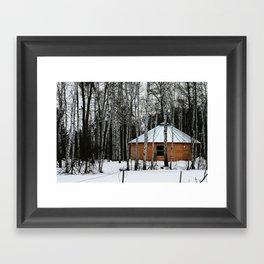Yurt in the Birch Framed Art Print