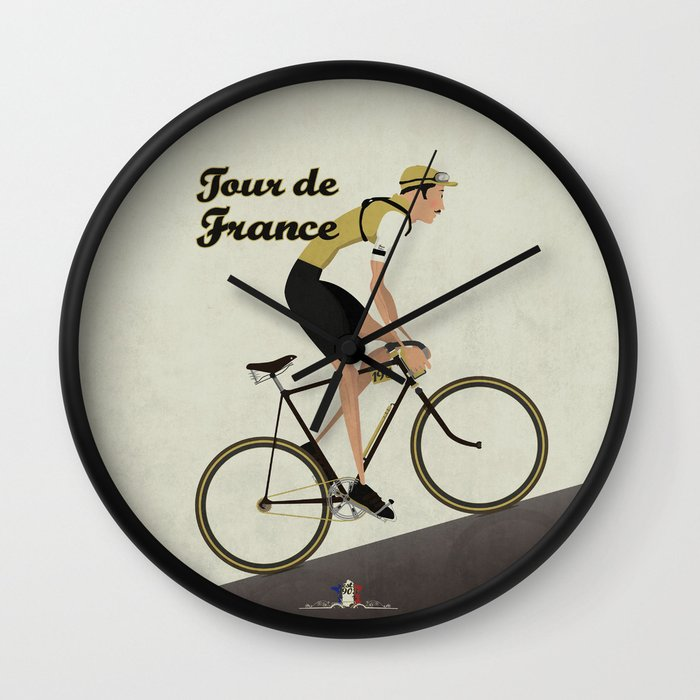 Tour De France Cycling Grand Tour Wall Clock