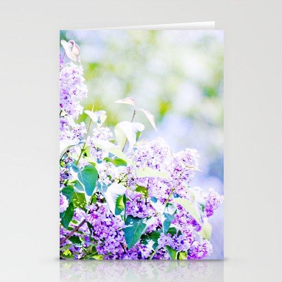 Hazy purple flowers Stationery Cards