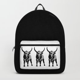 Bulls op art Backpack