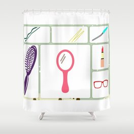 for woman Shower Curtain