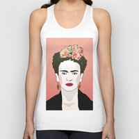 frida Tank Tops featuring Frida by Amanda Corbett