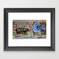 Think before you eat Framed Art Print