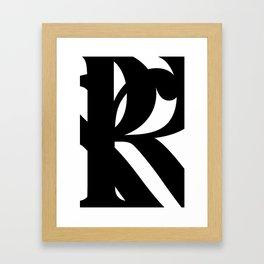 Hidden Letters. Baskerville R Framed Art Print