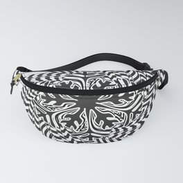 Black and White Spiral Abtsract Fanny Pack