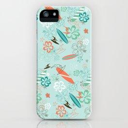 Surfs Up Blue iPhone Case