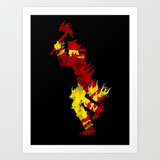 literal fireman Art Print