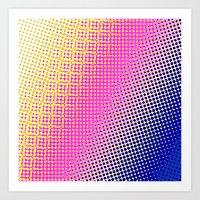 Halftone Art Print