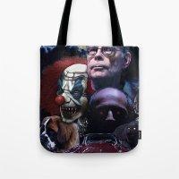stephen king Tote Bags featuring Stephen King by Saint Genesis
