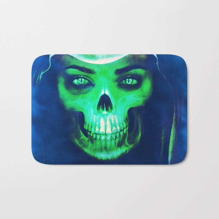 Skull Aglow Bath Mat