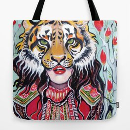 Tiger Woman Tote Bag
