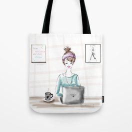 Busy Blogger Tote Bag