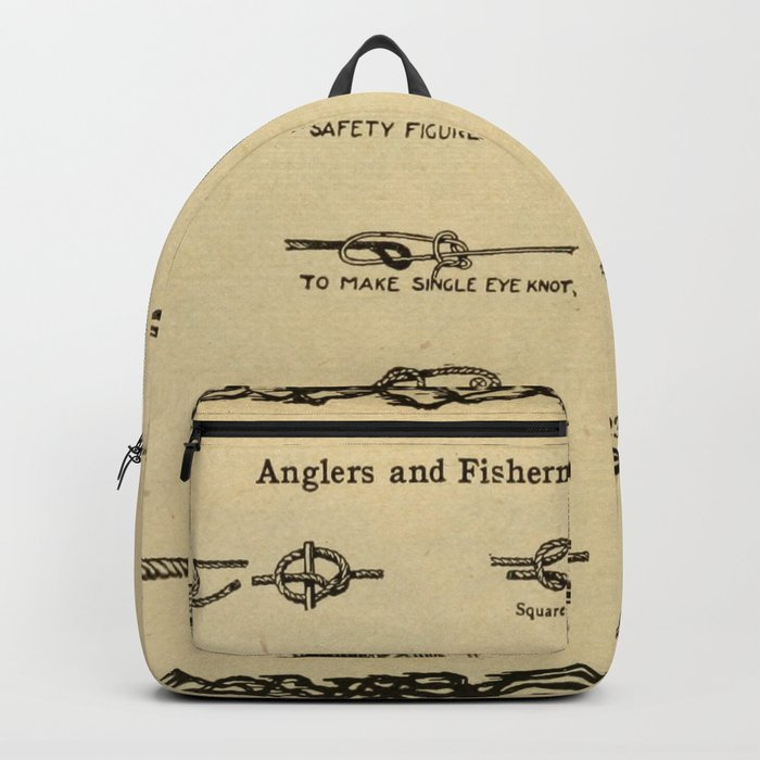 Vintage Diagram of Boating and Angler Knots (1913) Rucksack