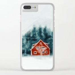 Red House Clear iPhone Case