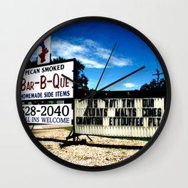 Pecan Smoked BBQ, Louisiana  Wall Clock