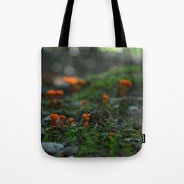 Micro Mushrooms Tote Bag