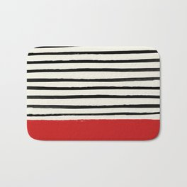 Red Chili x Stripes Bath Mat