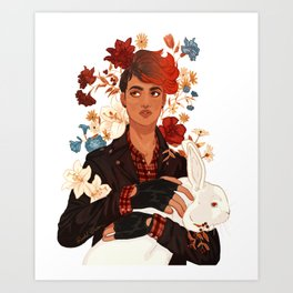 Aubrey Little, Lady Flame Art Print