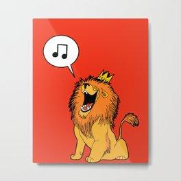 Lion singing Metal Print