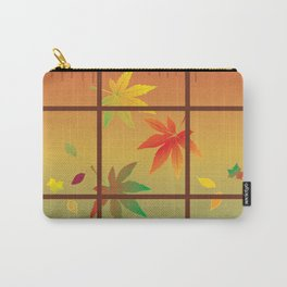 Falling Leaves on Window Pane Carry-All Pouch