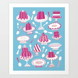 Would You Like Some Dessert (in Blue)? Art Print