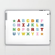 Alphabet on White Laptop & iPad Skin