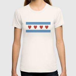 chicago love flag T-shirt