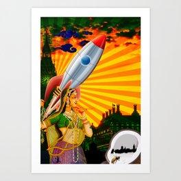 Rockets and Coconuts Art Print