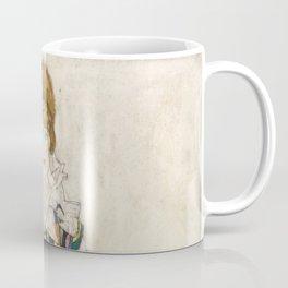 Egon Schiele - Portrait of Edith (the artist's wife) Coffee Mug