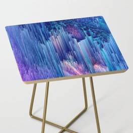 Beglitched Waterfall - Abstract Pixel Art Side Table