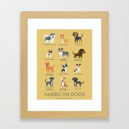AMERICAN DOGS Framed Art Print
