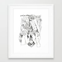 art history Framed Art Prints featuring art history class doodle by Jordan Piantedosi