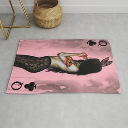 Queen of clubs Rug