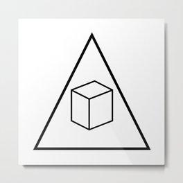 Delta Cubes Metal Print