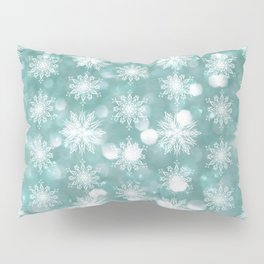Holiday Teal and Flurries Pillow Sham