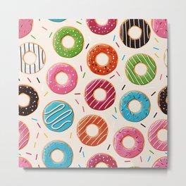Colorful Donut Design Metal Print