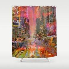 traffic jam pink Shower Curtain