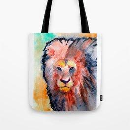 colorful lion Tote Bag