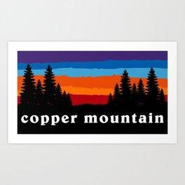 Copper Mountain Colorado Ski Snowboard Resort Skier Snowboarder Winter Park Gift Ideas Art Print