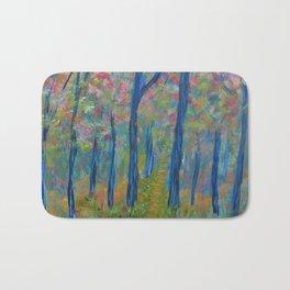 Impressionism Tree Forest, Modern Home Decor, Tree Art Bath Mat