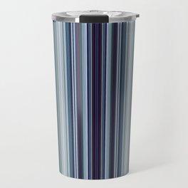 Classic Blue Decorative Stripes Travel Mug