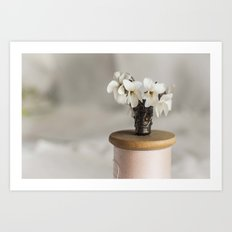 White Violets in a Thimble Art Print