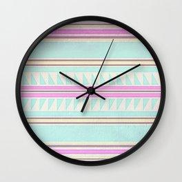 Pastel Boho Wall Clock
