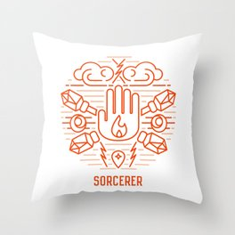 Sorcerer Emblem Throw Pillow