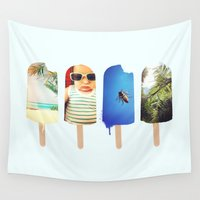 popsicle Wall Tapestries featuring Popsicle by Jemma Pope