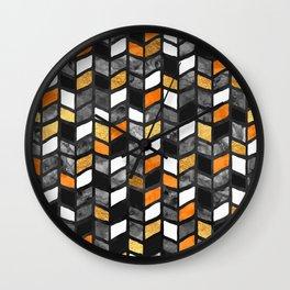 Fall Herringbone Wall Clock