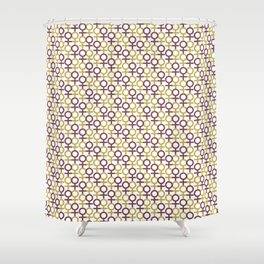 The Future Is Female Repeat Pattern Shower Curtain