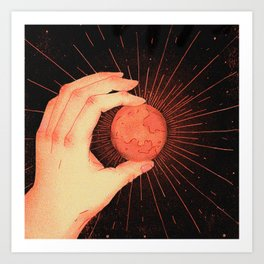 Colonizing Mars Art Print