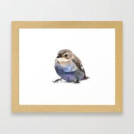 Bird Double Exposure Framed Art Print