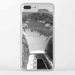 Black and White Hoover Dam - Nevada/Arizona Clear iPhone Case
